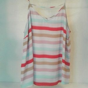 Maurices Flowy Rainbow Striped Top